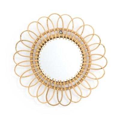 Spiegel in rotan, bloemvormig, Ø60 cm, Nogu Spiegel in rotan, bloemvormig, Ø60 cm, Nogu LA REDOUTE INTERIEURS