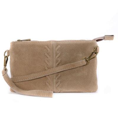 705c7c4051 Sac à main pochette en cuir Nubuck / daim Ute OH MY BAG