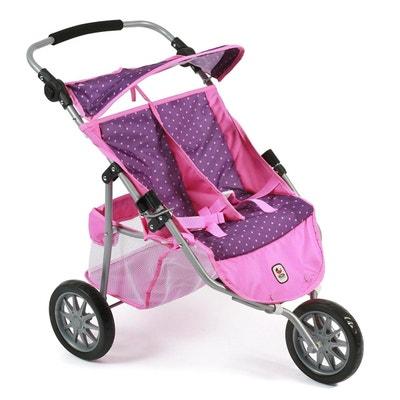 d6f11cde0fe7 Bayer Chic 2000 697 40 Poussette Jogger 3 roues pour poupées jumelles -  Coloris 40 BAYER