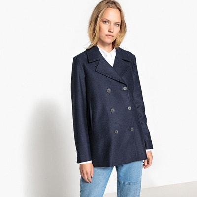 Manteau court bleu marine femme | La Redoute