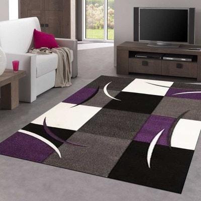 Tapis gris et violet | La Redoute