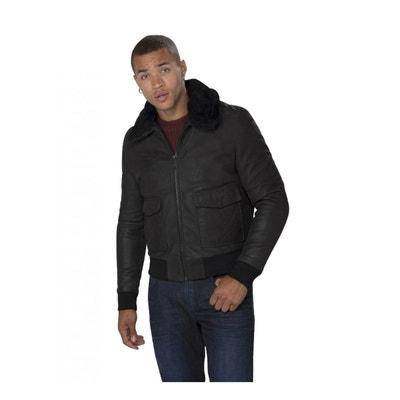 Blouson en Cuir Homme Interpol Punch Black REDSKINS 3cf08856814