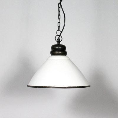 Suspension industrielle 3 lampes métal noir Made In Meubles