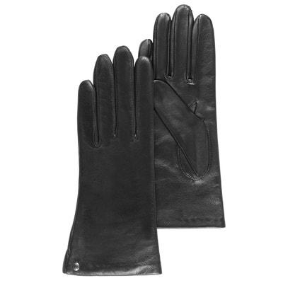 Gants cuir noir femme en solde   La Redoute f01abd1d23b