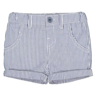 La Redoute R Edition Big Boys Slogan Print Bermuda Shorts 21 in. Birth-3 Years Blue Size 1 Month