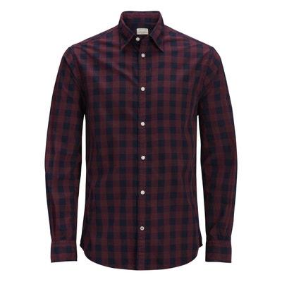 prix compétitif a7e83 4b38e Chemise à carreaux rouge homme   La Redoute