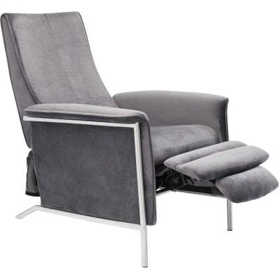 e8cde4ba93182b Fauteuil relax Lazy velours gris Kare Design KARE DESIGN