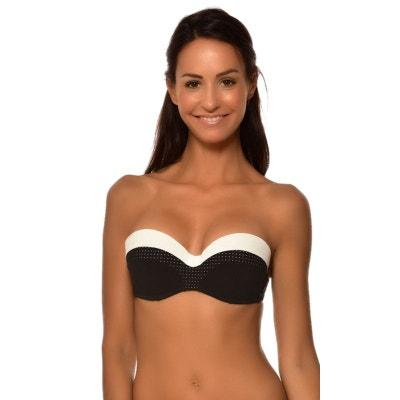 74bfed43ccff Haut de maillot de bain deux pieces femme Livia NINE AQUAVIVA bicolore  Bonnet C LIVIA