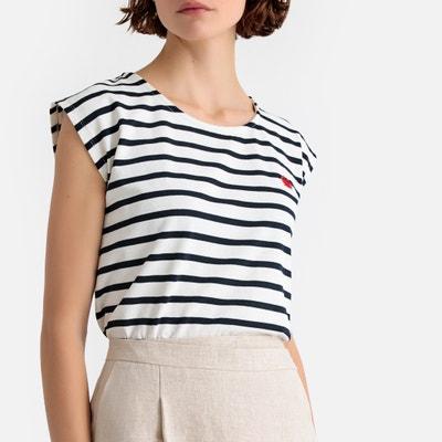 df503d451f70 Cotton Breton Stripe Crab Embroidery T-Shirt Cotton Breton Stripe Crab  Embroidery T-Shirt