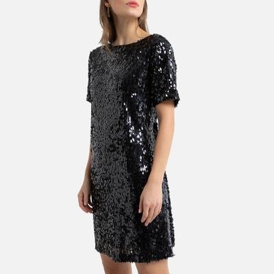 Korte jurk met zecchino's en korte mouwen Korte jurk met zecchino's en korte mouwen LA REDOUTE COLLECTIONS