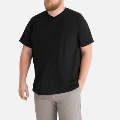 853e7571ebe T-shirt grande taille col v manches courtes T-shirt grande taille col v