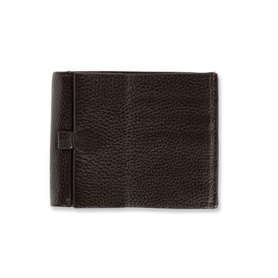 51a5d7fdc3 Portefeuille horizontal cuir marron BRICE