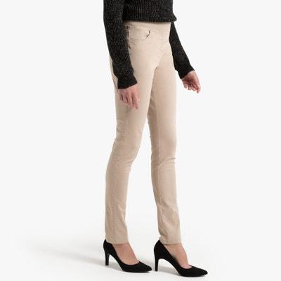 Rechte broek, 5-pockets, katoen, elastische tailleband Rechte broek, 5-pockets, katoen, elastische tailleband ANNE WEYBURN