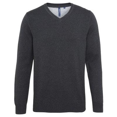 Pull chemise 2 en 1 col v manches longues Ugholin   La Redoute