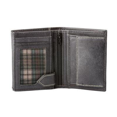 1027ae82db Petit portefeuille pour homme vertical en cuir vintage avec porte-monnaie  Petit portefeuille pour homme