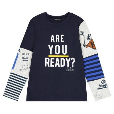 Camiseta de manga larga estampada 4-14 años Camiseta de manga larga  estampada 4- 1a0dc7cca33da