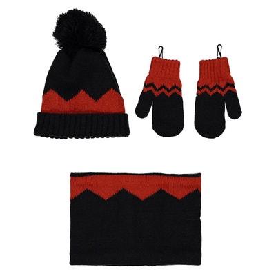 Ensemble bonnet + moufles + snood 0 mois - 3 ans LA REDOUTE COLLECTIONS 4a6d837d648