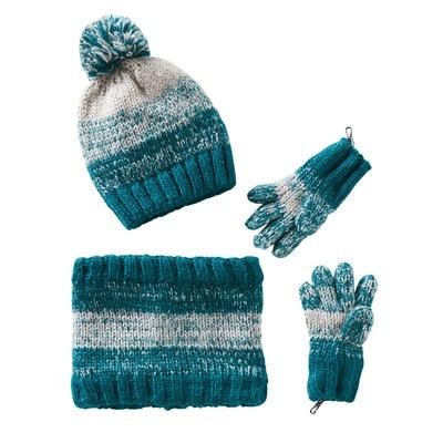 97e221768fde Bonnet garçon + snood + gants ou moufles VERTBAUDET