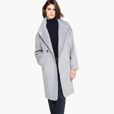 48648a578c24 Manteau laine gris femme