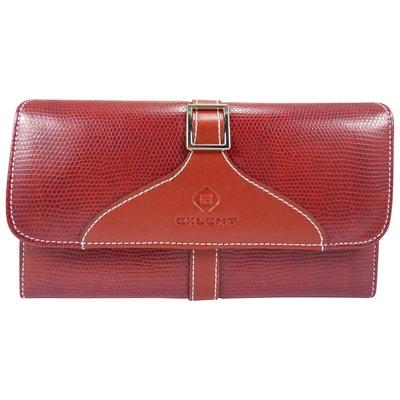Compagnon femme porte chéquier portefeuille talon haut motif peau croco  simili cuir Compagnon femme porte chéquier 92faebc1641