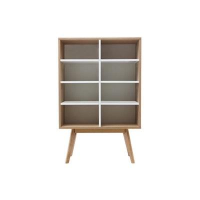 Bibliothèque design scandinave chêne et blanc HELIA MILIBOO 48cfd30965f3
