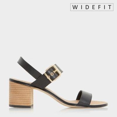 Sandales pieds larges à boucle et talons carrés - WF JANY DUNE LONDON 36347a4eb33
