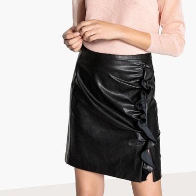 FemmeLa Redoute En Cuir Jupe Noir X80nkwPNOZ