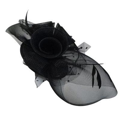 b5bcd713f9 Chapeau de cérémonie bibi noir plumes CHAPEAU-TENDANCE