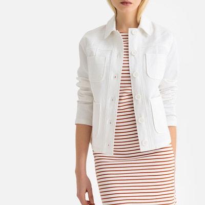 Veste courte en coton femme