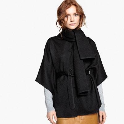 7adf03da1f8b2 Cape en mélange laine avec ceinture Cape en mélange laine avec ceinture LA  REDOUTE COLLECTIONS