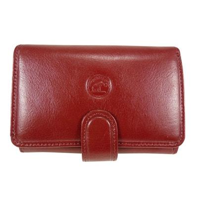 Porte Monnaie - Portefeuille Femme à bouton pression Cuir Porte Monnaie -  Portefeuille Femme à bouton a695b683673