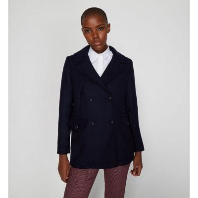 Manteau droit femme bleu marine | La Redoute
