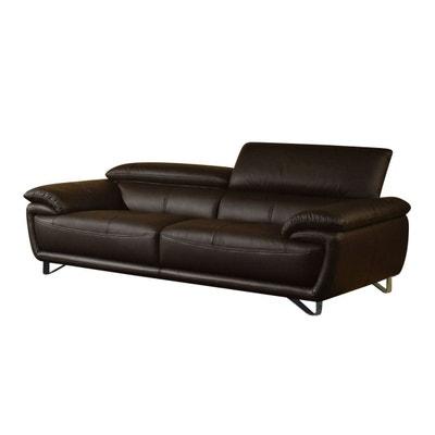 code promo d1e6b c61de Canape cuir vieilli marron | La Redoute