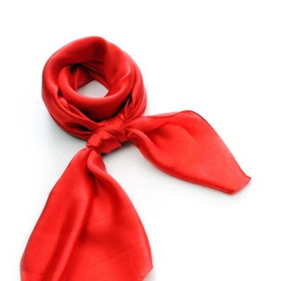 Carré de soie Premium Rouge uni - 85x85 cm Carré de soie Premium Rouge uni  -. ALLEE DU FOULARD f5f98f2b994