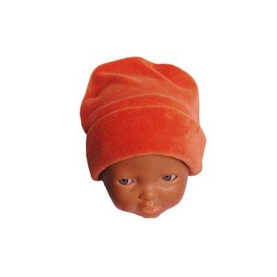 Bonnet orange velours bébé du 0 au 24 mois Bonnet orange velours bébé du 0  au. POUSSIN BLEU 4b4f6741199