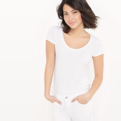 fbc7c6b14eb Tee shirt blanc femme