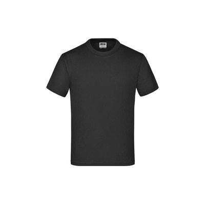 Tee shirt uni noir fille | La Redoute