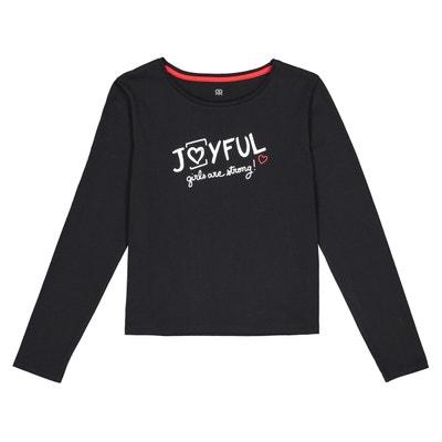 c8255f95e96c5 T-shirt manches longues imprimé devant 10-18 ans LA REDOUTE COLLECTIONS