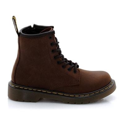 Boots cuir verni à lacets delaney noir Dr Martens | La Redoute