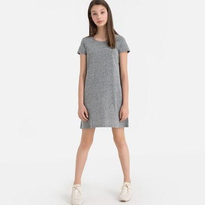 f57ca7fa6a4 Robe T-shirt manches courtes croisée dos 10-18 ans Robe T-shirt