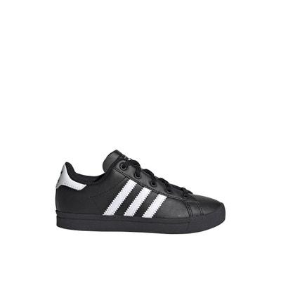 Baskets Adidas Coast Star blanches à bandes noires | Rue Des Hommes