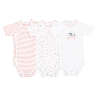 Lot de 3 bodies naissance préma - 2 ans Oeko Tex Lot de 3 bodies naissance c2fe3958dd3