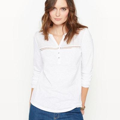 b03f0bba5757 Tee shirt blanc manche longue femme