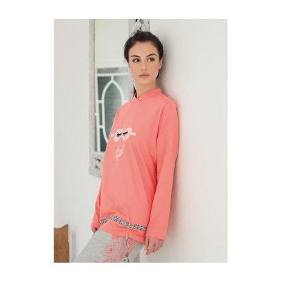 ced78f1bc99da Pyjama femme coton manches longues