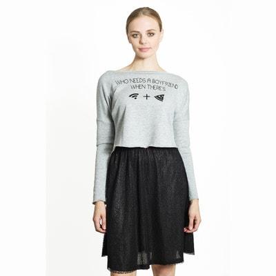 Kurzes Sweatshirt, bedruckt Kurzes Sweatshirt, bedruckt MIGLE+ME