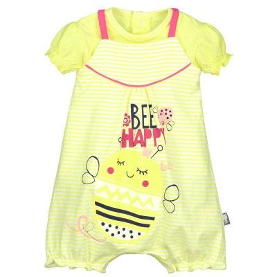 3d104ae7f143 Barboteuse + t-shirt bébé fille Bee Happy Barboteuse + t-shirt bébé fille