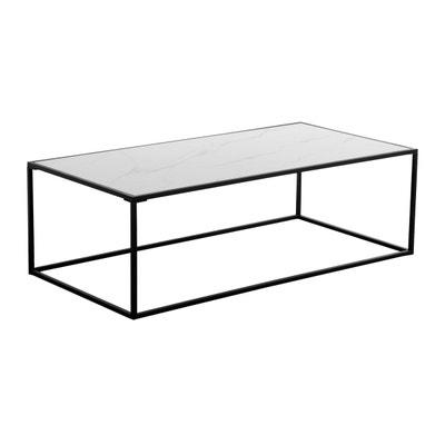 Table Basse Blanche Et Verre La Redoute