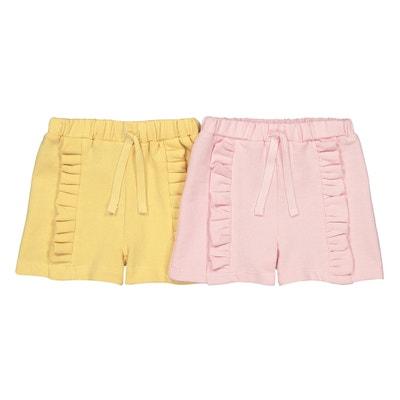 Lot de 2 shorts en molleton 1 mois-3 ans Lot de 2 shorts en. Vente Flash. LA  REDOUTE COLLECTIONS 6af1ef451c6