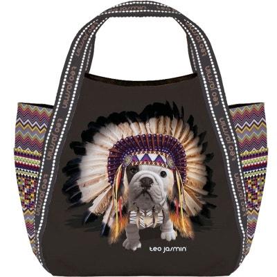 Apache TEO shopping Petit sac Téo Noir JASMIN Jasmin pnOYfqY5I