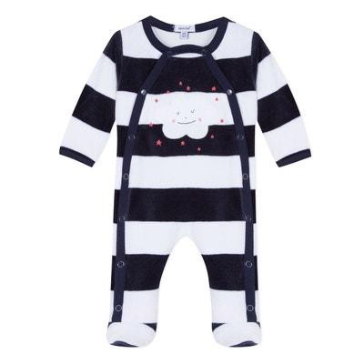 2c1f9cd57e44c Pyjama rayé en velours 3-12 mois Pyjama rayé en velours 3-12 mois. ABSORBA
